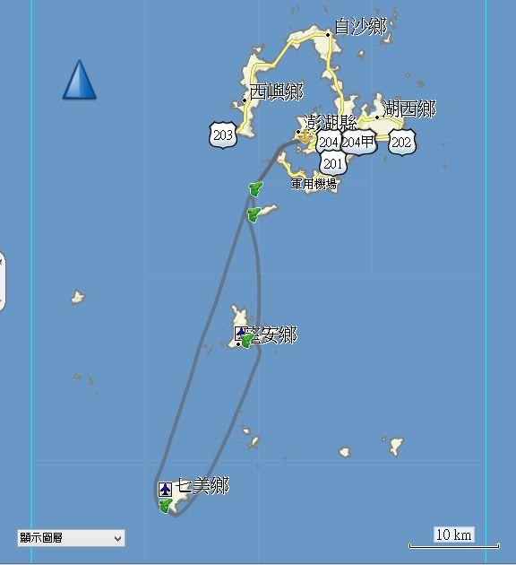 澎湖南海四岛航线,澎湖本岛,桶盘屿
