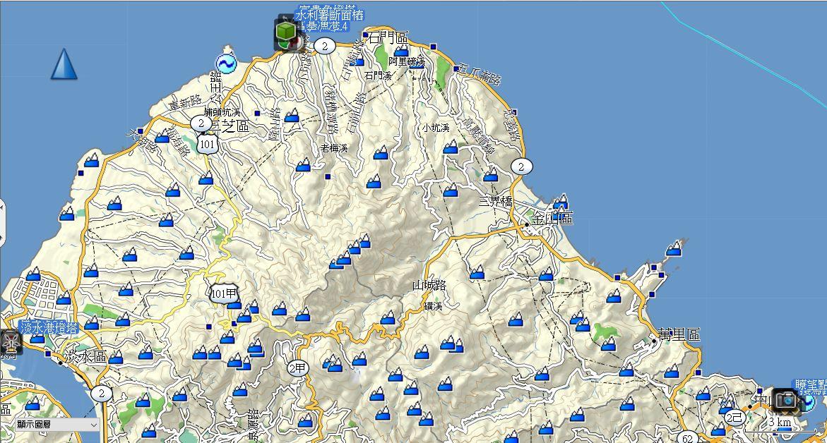 地图-- 路线:1805.白米瓮炮台,基隆灯塔,富贵角步道