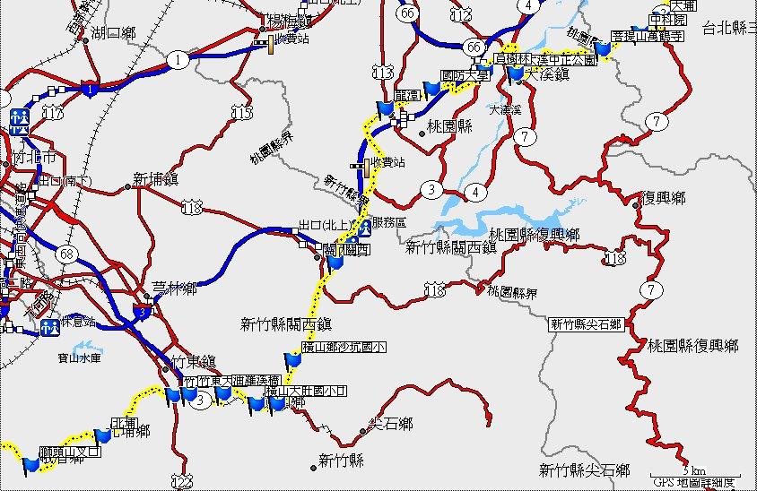 地图-- 路线:15.省道台3线