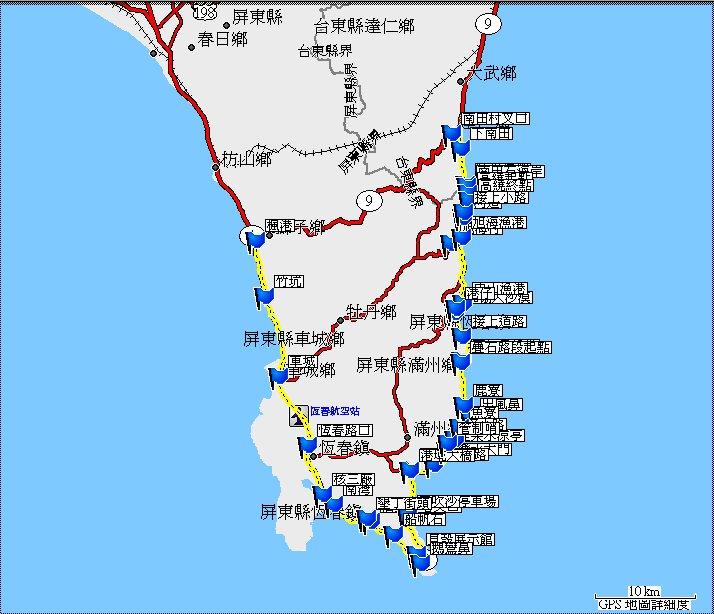 地图-- 路线:14.省道台26线:南部滨海公路