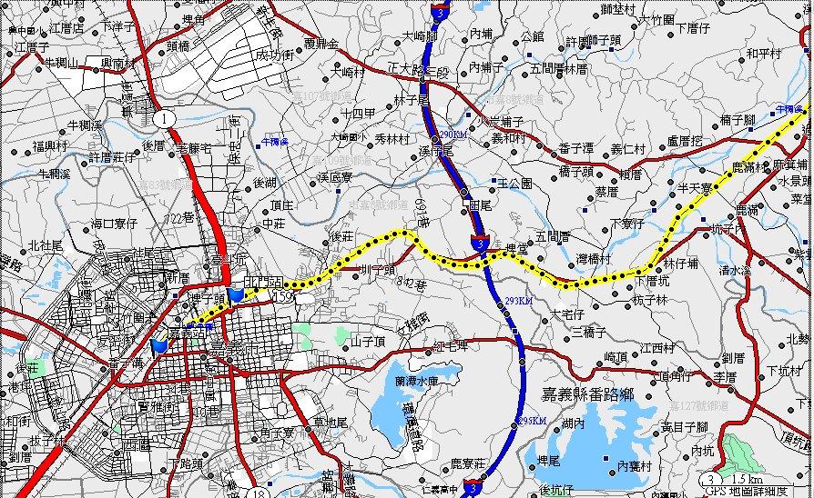 地图-- 路线:522.铁路纪录:阿里山森林铁路线