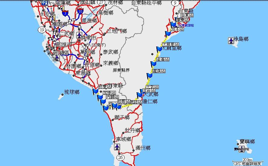 地圖 路線:527 鐵路紀錄:南迴線 馬克褚工作室