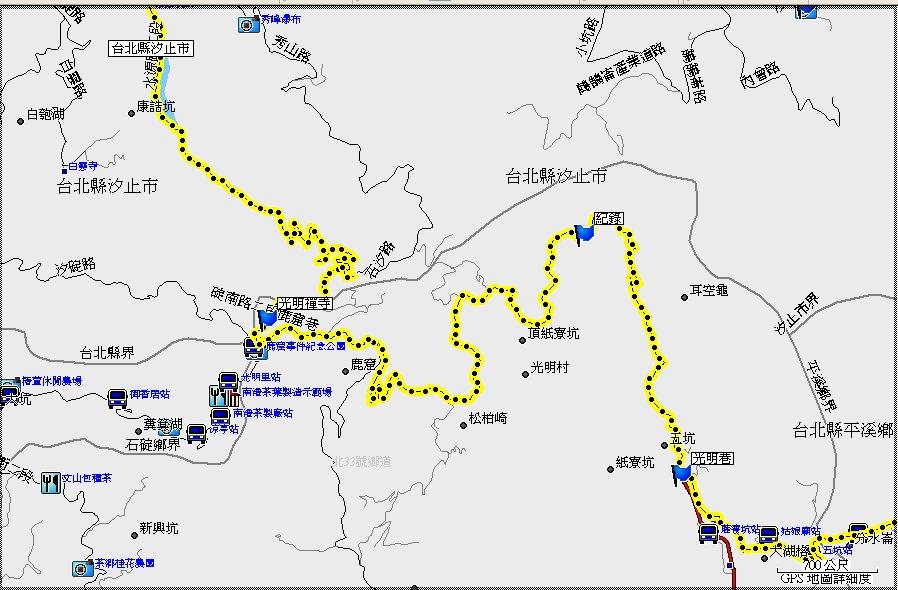 地图-- 马克经验:719.汐止-平溪山区斗斗游(汐平公路